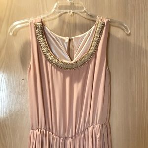 Blush pink sleeveless dress